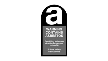 Warning Contains Asbestos logo