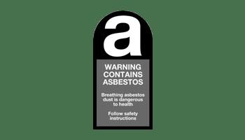 Warning Contains Asbestos logo